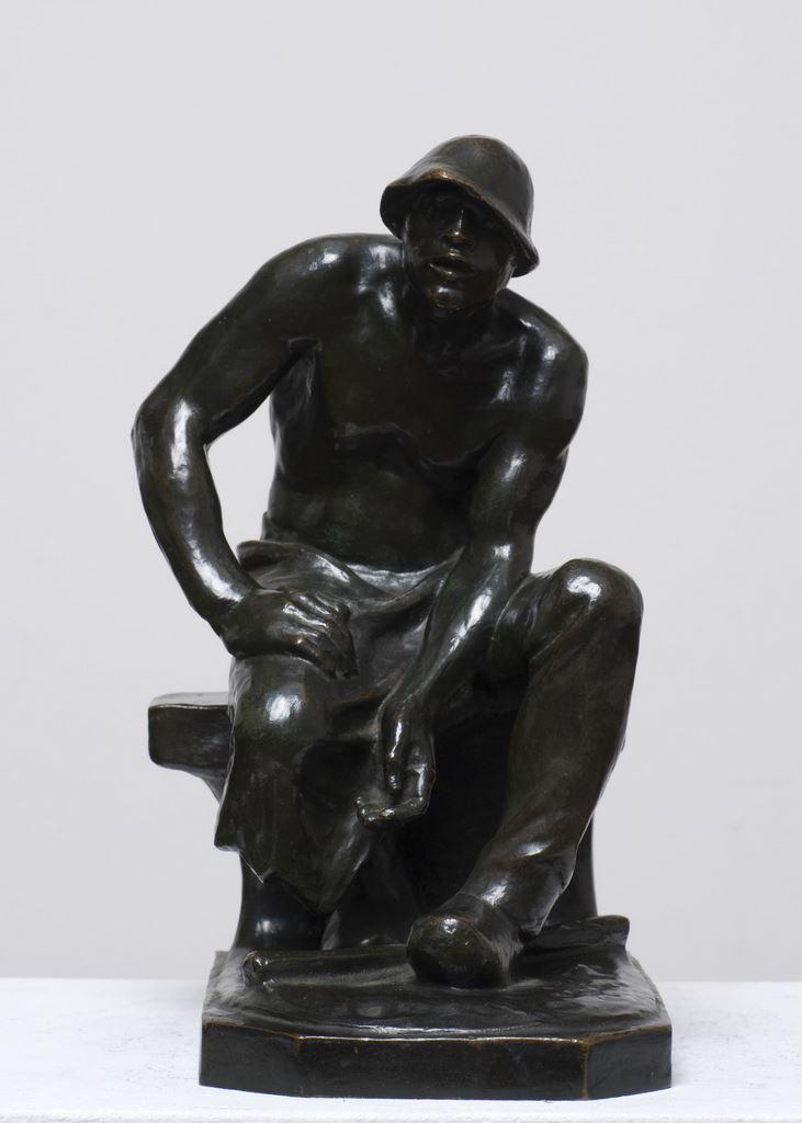 Constantin Meunier, Puddleur assis, inv. 8122, photo Luc Denruyter
