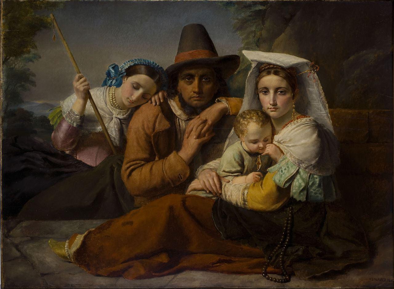 François-Joseph Navez, Famille de pèlerins, 1862, inv. 371