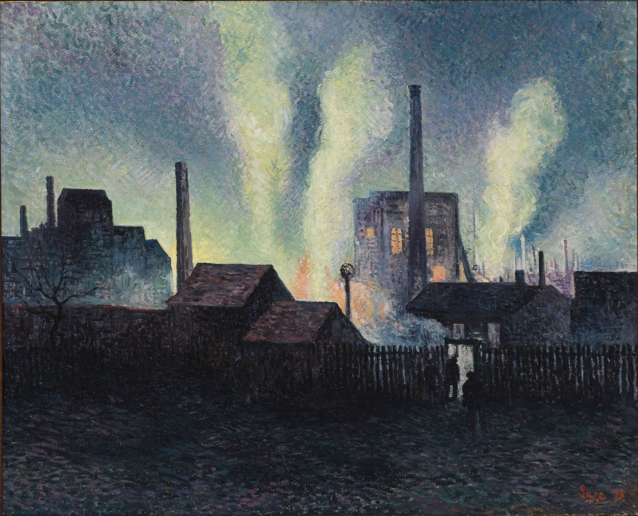 Maximilien Luce, Hauts fourneaux à Charleroi, 1896