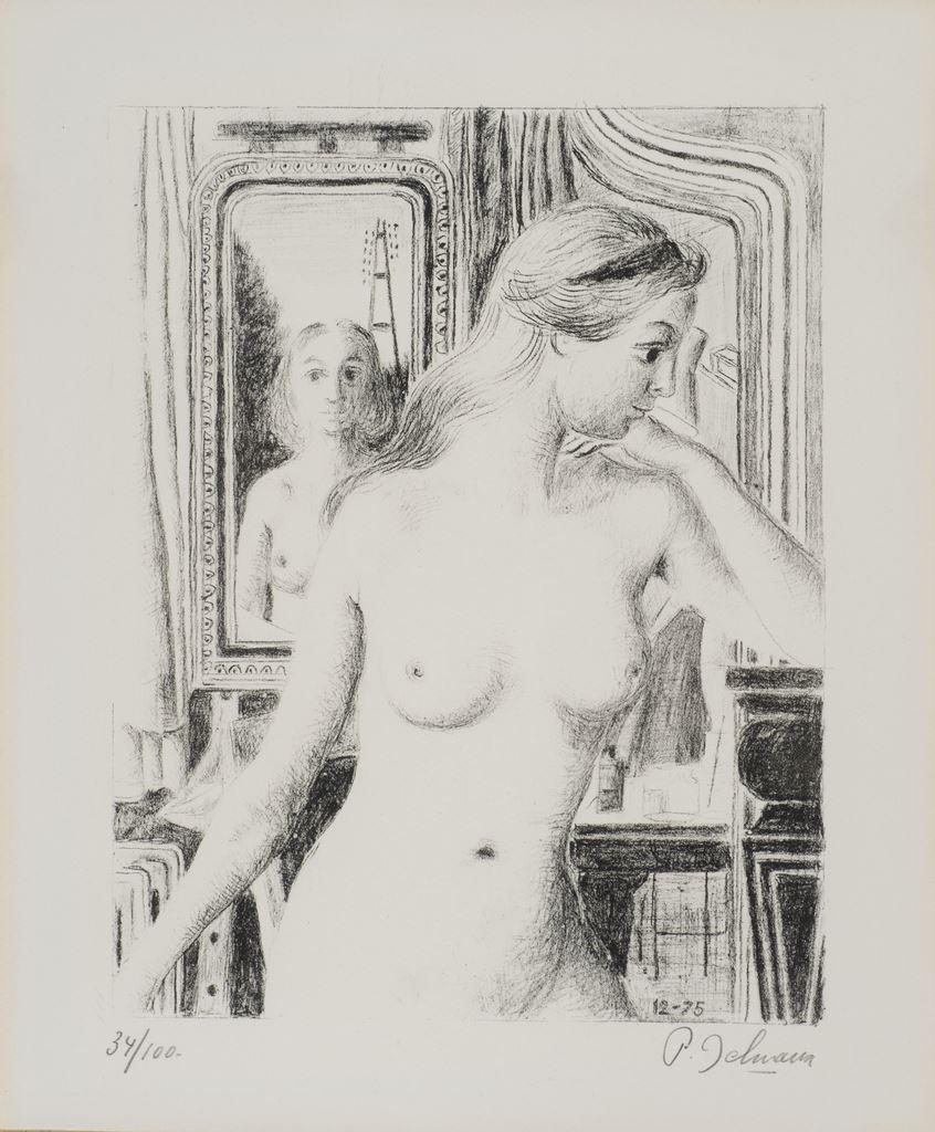 Le reflet, s.d.  Lithographie, 57 x 50 cm  mba 733  Photo : A.Breyer