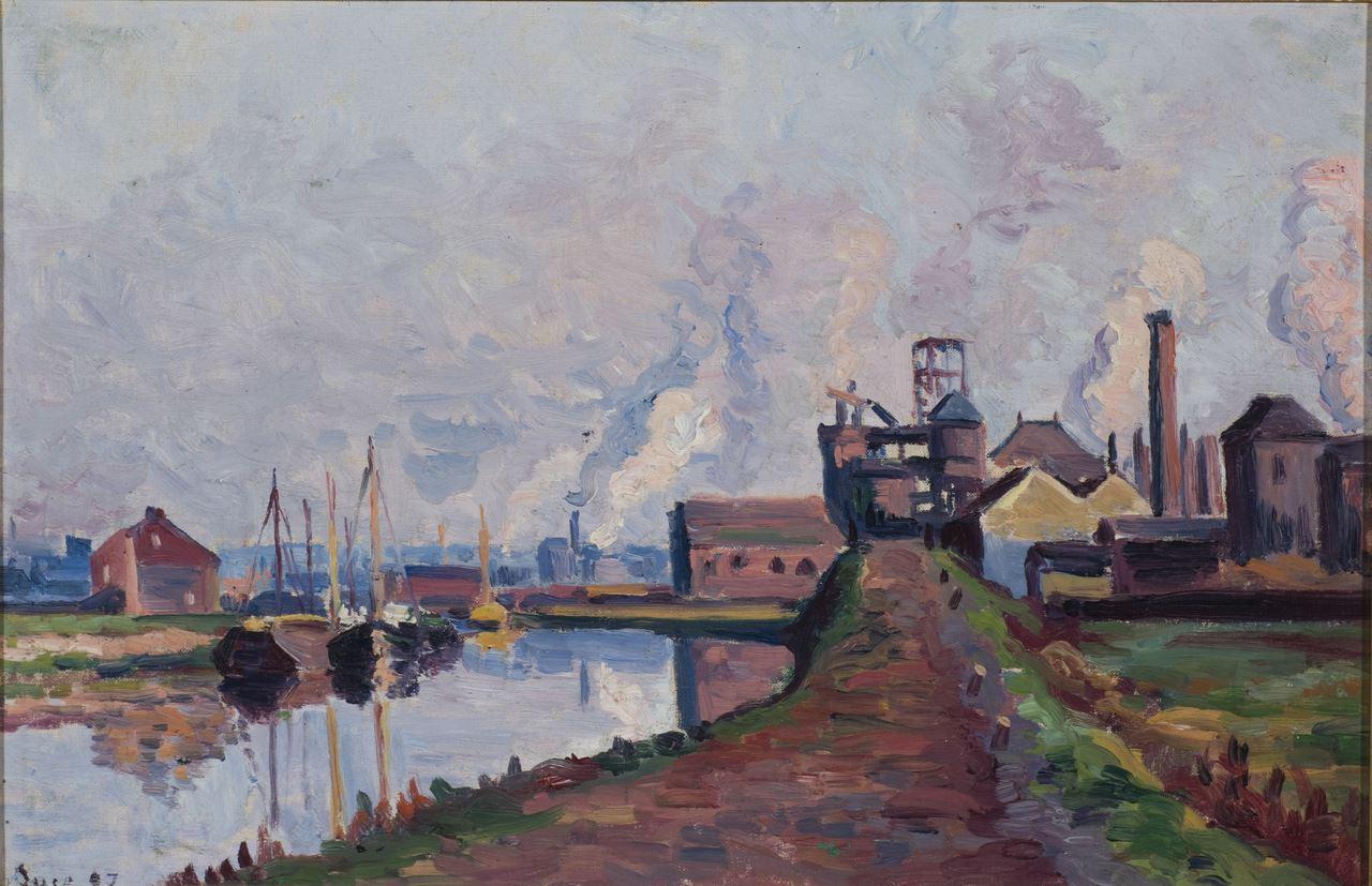 Maximilien Luce, Canal à Charleroi, 1897 Huile sur toile, 31 x 46cm mba. 834 Photo : A. Breyer