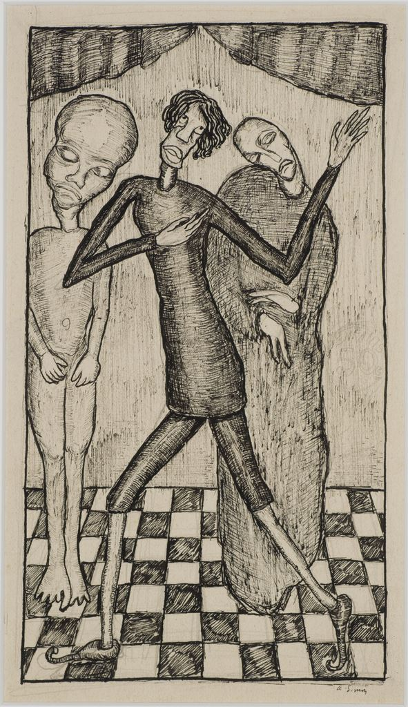 Armand Simon Sans titre Encre de chine sur papier, 25,4 x 16,3 cm  mba. 266/dation Photo : A. Breyer