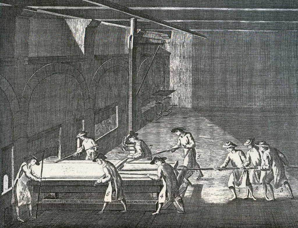L'Encyclopédie Diderot et d'Alembert, Art du verre – Fabrication des glaces, planche XXV, 18es