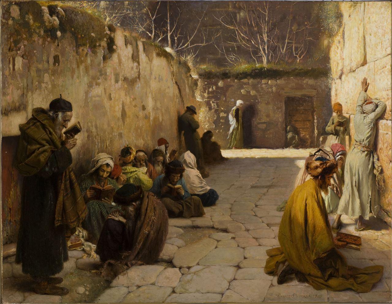 Le mur des lamentations, 1899 Huile sur toile, 70 x 91 cm Don de la famille Passelecq mba. 160 Photo : A. Breyer