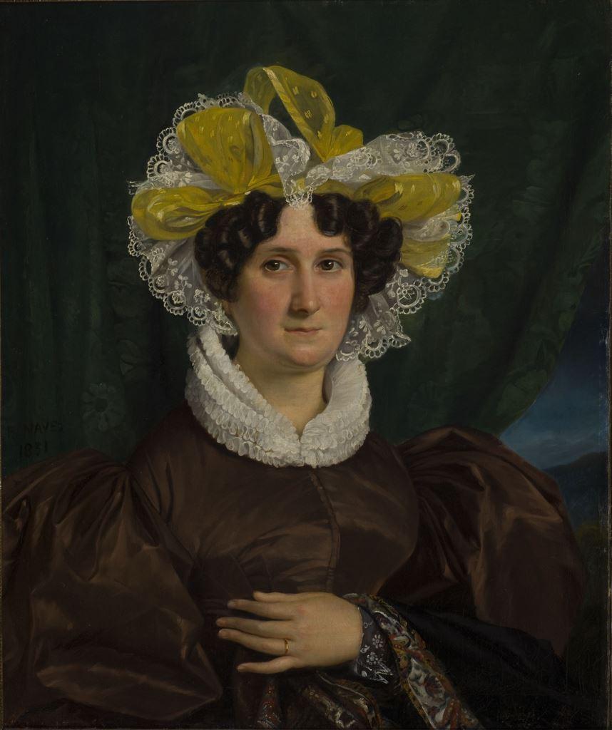 François-Joseph Navez, Portrait de Madame Roberti, 1831 Huile sur toile, 78 x 66 cm mba. 416