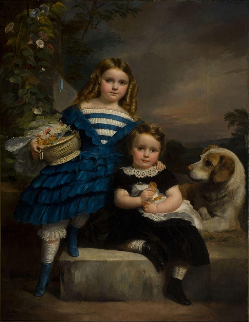 François-Joseph Navez, Enfants au chien, 1852
