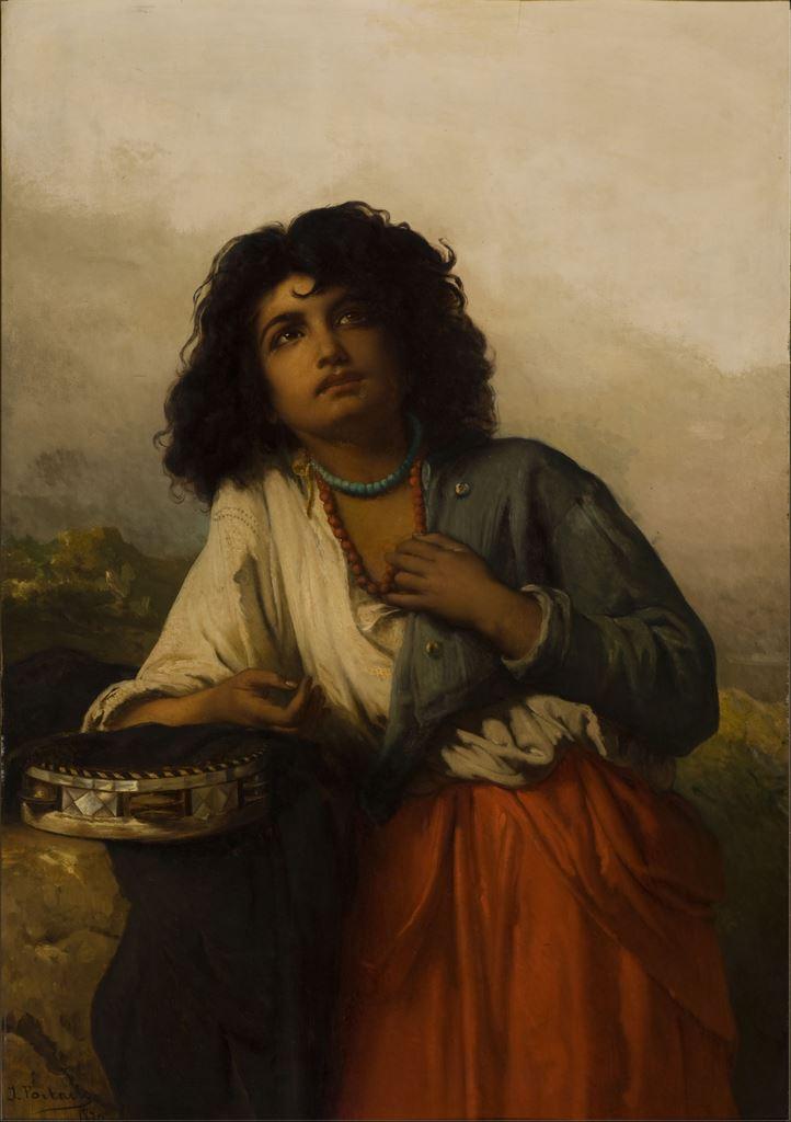 Jean-François Portaels,Tzigane, 1870 Huile sur toile, 100 x 70 cm mba. 520