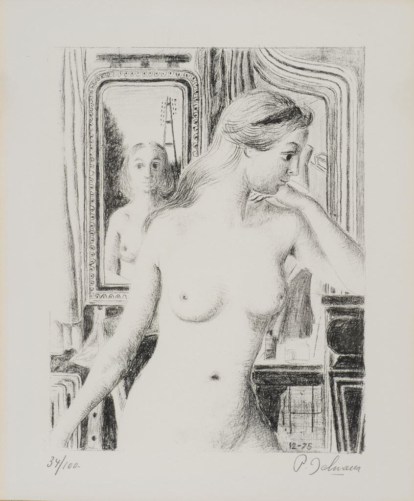 Le reflet, s.d.  Lithographie, 57 x 50 cm  mba 733  Photo : A.Breyer