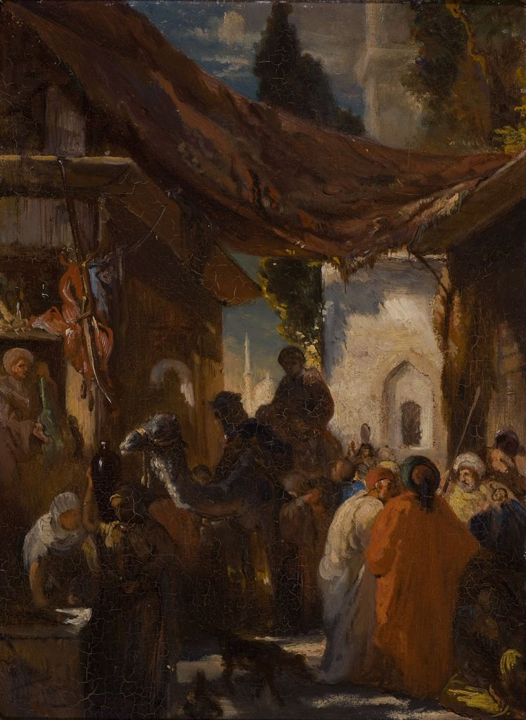 Jean Portaels, Scène de la vie marocaine, s.d.
