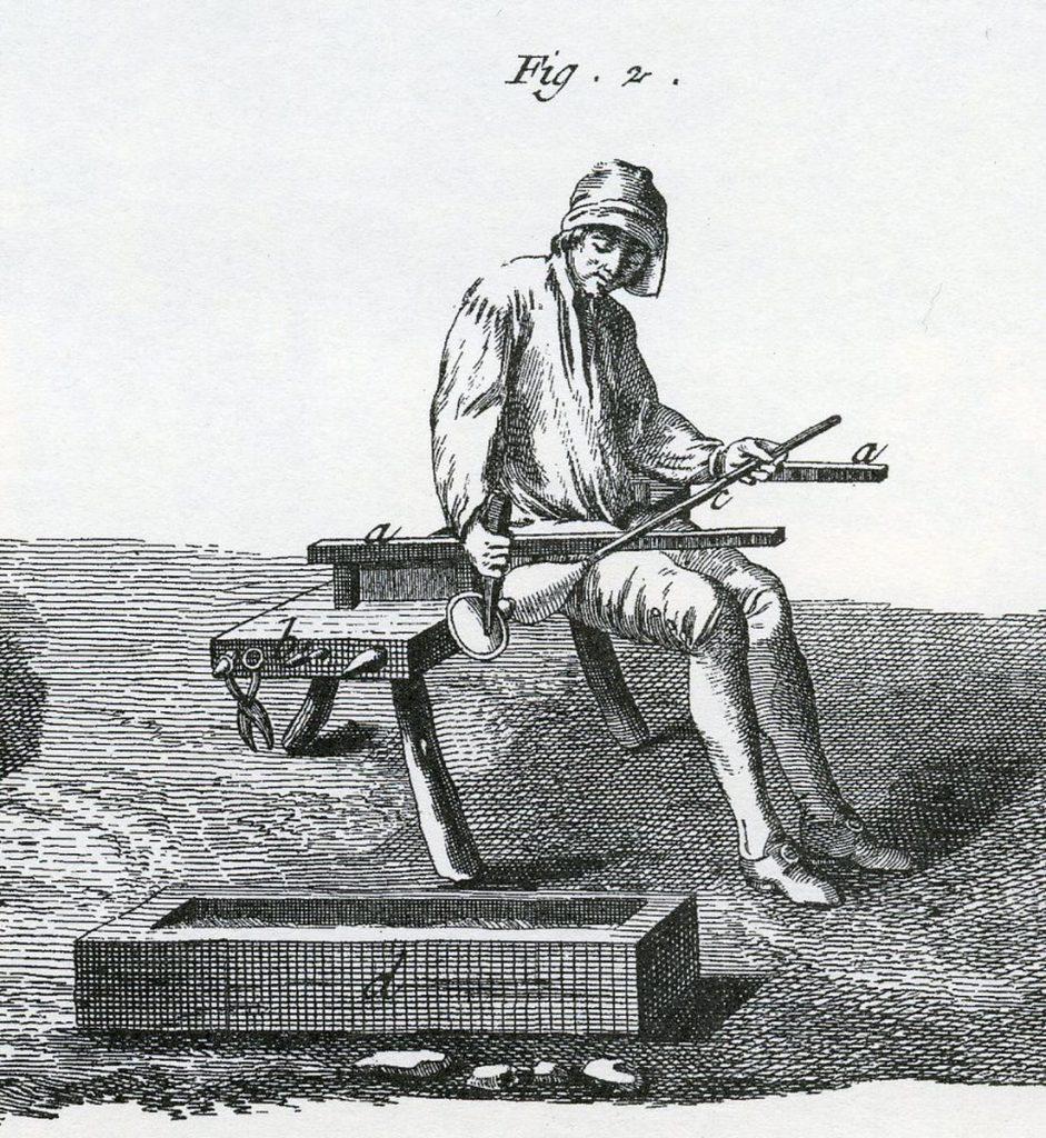 L'Encyclopédie Diderot et d'Alembert, Art du verre – Fabrication des glaces, planche XX, 18es
